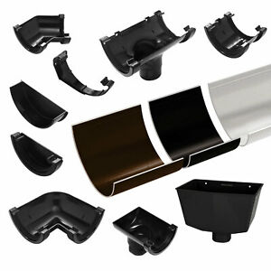 Half Round Guttering UPVC Plastic 114mm Marshall Tufflex Rainwater Gutter System