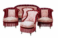 Fabric Edwardian Antique Sofas & Chaises