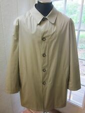 "Lauren Ralph Lauren Beige Button Up Long/S Zip Closure Lining Coat ""Men 48R"""