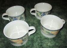 Lot of 4 Mikasa Intaglio Garden Harvest Tea Coffee Cup Mug CAC29