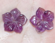 VINTAGE AMETHYST FLOWER JACKETS FOR EARRINGS USE WITH ANY STUDS