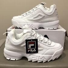 Fila Disruptor 2 Premium Triple White Platform Shoe 1FM00139-100 Size 9 Mens