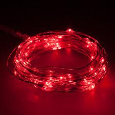 2m LED Kupfer Draht Lichterkette 5V Lichterdraht Leuchtdraht mit USB Anschluss