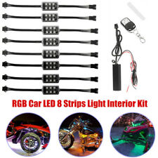 12V RGB Car Chassis Atmosphere Lamp Door Dash Ambient Light Flash Neon Strip Kit