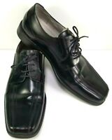 Stacy Adams Mens Oxford Shoes Size 13 W Black Derby Bicycle Toe Leather Upper