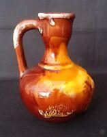 Vallauris Pottery Vinegar Bottle Lava Pattern No Cork 4½ In   FREE Delivery UK*