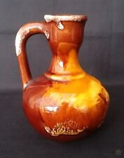 More details for vallauris pottery vinegar bottle lava pattern no cork 4½ in | free delivery uk*