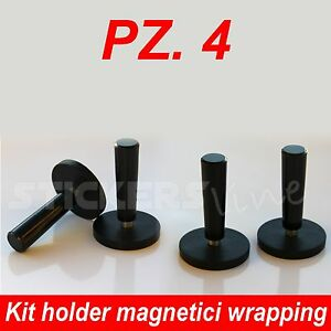 4 magneti pellicole car wrapping accessori calamite per posizionare adesivi