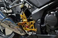 2011-2017 Honda CBR 250R / 300R GOLD Hotbodies MGP Adjustable Rear Sets