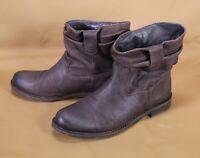 17D Buffalo Damen Stiefel Biker Boots Leder braun Gr. 39 flacher Absatz