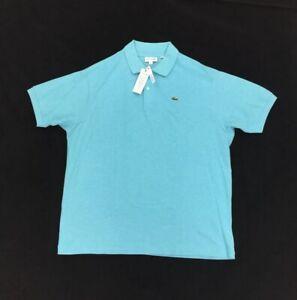NEW Lacoste Short Sleeve Golf Polo Shirt Lavezzi Chine Blue Mens Big & Tall Croc