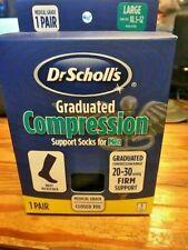 Dr Scholls Graduated Compression Support Socks navy..Size Large Men NEW