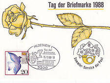West Germany 1988 Stamp Day FDC Hildesheim CDS Special Card