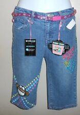Bobby Jack Girls Embellished Denim Skimmers + Belt Blue Sixteen (16) NWT