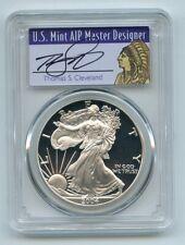 2004 W $1 Proof American Silver Eagle 1oz PCGS PR70DCAM Thomas Cleveland Native