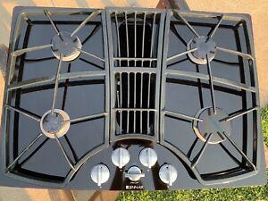 "Jenn Air 30"" 4 Burner Gas Cooktop Removable Grates & Downdraft Fan - JGD8430AD"