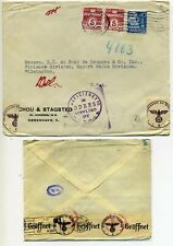 Denmark - German censored cover to Usa dated 26 Jul 40