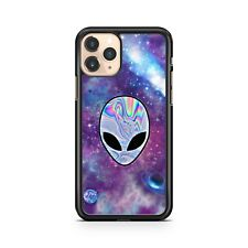 Rainbow Colour Filled Extraterrestrial Space Alien Face Galaxy Phone Case Cover