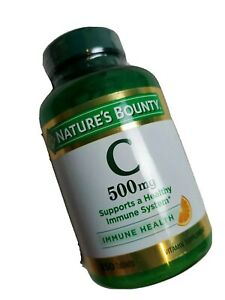 Nature's Bounty Vitamin C 500 mg - 250 Tablets EXP 05/2023 Immune System Health