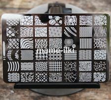 Gran Arte en Uñas Imagen Estampar Planchas para Estampar Manicura Plantilla Polaco imagen (D14)