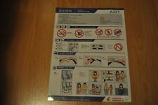 Safety Card China Eastern Airlines  HD-MU-06