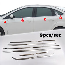 Fit For 12-17 Ford Focus Chrome Bottom Side Door Window Sill Molding Cover Trim