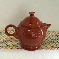 Fiestaware Paprika Teapot Fiesta Retired Burnt Orange Large 44 oz Tea Pot