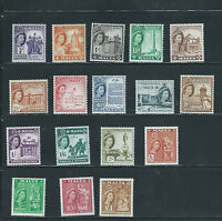 MALTA 1956-58 SET OF 17  (SG 266/282) MNH