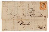 A3056) FRANCE 1875 Prestamped Letter Lyon Naples