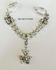 Shades of butterflys  intimate body clips crystal rhinestone Jewelry No pierce