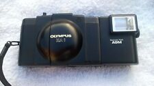 VINTAGE OLYMPUS XA1 35MM POINT AND SHOOT COMPACT CAMERA+ A9M FLASH