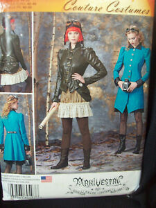 Simplicity Pattern S0497 Steampunk Haunt Couture Costume Sizes 14-16-18-20-22 UC