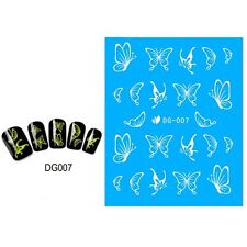 Decals Butterfly Design Nail Art Stickers Glow In The Dark Water Transfer