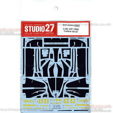 1/20 Lotus 107 Carbon decals set by Studio 27 ~ CD20041 to suit Tamiya kits