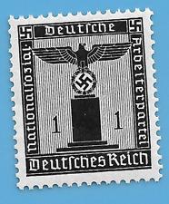 Germany Third Reich German 1938 Swastika Eagle 1 Stamp MNH WW2 ERA