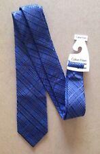 Calvin Klein da uomo misto seta cravatta nuova con etichetta BLU