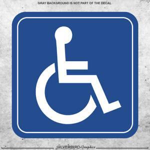 2x Handicap handi cap sticker decal vehicle wheelchair disabled window parking