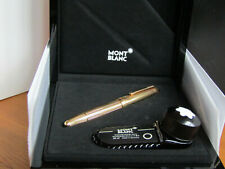 A Boxed, Near Mint Montblanc Meisterstück 146 Solid Silver Vermeil Fountain Pen