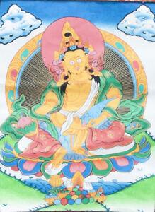 Rare Guru Padmasambhava (Rinpoche) Tibetan Thangka  Hand crafted wall hanging