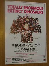Totally Enormous Extinct Dinosaurs - Edinburgh/Glasgow oct.2012 gig poster
