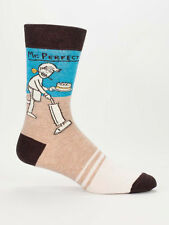 Men's Crew Socks, Mr. Perfect, Blue Q Cotton Novelty Funny Father's Day Gift