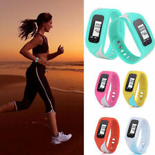 Pink Digital LCD Pedometer Run Step Walking Distance Calorie Counter  Watch