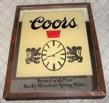 "Vintage Coors Premium Beer Mirror Clock Sign for restaurant bar man cave 21""x17"""
