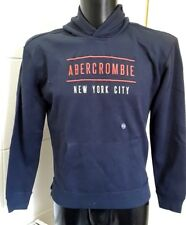 NEW Abercrombie Kids NYC Logo Graphic Hoodie, Black 15/16