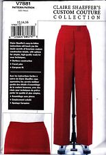Vogue Sewing Pattern Claire Shaeffer's Custom Couture Trousers 12 14 16  V7881