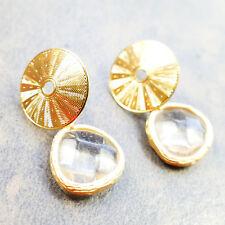 Ohrschmuck Ohrringe Ohrstecker aus vergoldet mit Klar-Kristall von Catia Levy