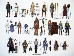 """Star Wars 3.75"""" Animated Clone Wars Jedi Heroes Villains Lot Of 20 Figures"""