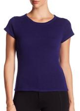 Premise Cashmere Short Sleeve Cashmere Tee Extra Purple XL NWT $118