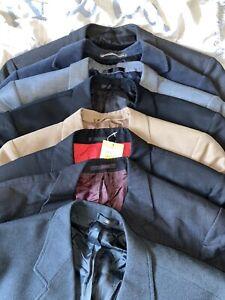 Mens Designer Suit Jacket Bundle Job Lot X9 Bulk Suits Ted Baker M&s Fcuk Farah