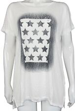 New Only Women's Stars/Flag Top in Cloud Dance/Stars Colour Size XL